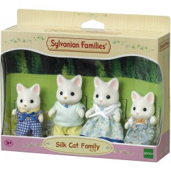 Famiglia gatti silk
